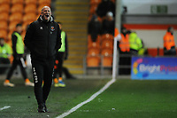 Blackpool manager Simon Grayson shouts instructions to his team from the dug-out<br /> <br /> Photographer Kevin Barnes/CameraSport<br /> <br /> The EFL Sky Bet League One - Blackpool v Gillingham - Tuesday 11th February 2020 - Bloomfield Road - Blackpool<br /> <br /> World Copyright © 2020 CameraSport. All rights reserved. 43 Linden Ave. Countesthorpe. Leicester. England. LE8 5PG - Tel: +44 (0) 116 277 4147 - admin@camerasport.com - www.camerasport.com