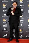 Brays Efe win the award at Feroz Awards 2017 in Madrid, Spain. January 23, 2017. (ALTERPHOTOS/BorjaB.Hojas)