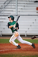 Dartmouth Big Green center fielder Trevor Johnson (36) at bat during a game against the Southern Maine Huskies on March 23, 2017 at Lake Myrtle Park in Auburndale, Florida.  Dartmouth defeated Southern Maine 9-1.  (Mike Janes/Four Seam Images)