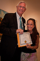 The Naples Art Association at The von Liebig Art Center and Ringling College of Art and Design awarded $8,000 in college scholarships to seven Collier County high school juniors and seniors on Friday, April 15, 2011. Photo by Debi Pittman Wilkey