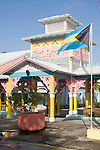 Grand Bahama Island, The Bahamas; the colorful entrance to the Port Lucaya Marketplace