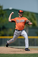 Baltimore Orioles pitcher Tanner Chleborad (53) during a minor league spring training game against the Boston Red Sox on March 18, 2015 at the Buck O'Neil Complex in Sarasota, Florida.  (Mike Janes/Four Seam Images)
