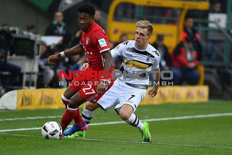 19.03.2017, Borussia-Park, Moenchengladbach, GER, 1.FBL., Borussia M&ouml;nchengladbach. vs. FC Bayern Muenchen<br /> <br /> im Bild / picture shows: <br /> Patrick Herrmann (Gladbach #7),im Zweikampf gegen David Alaba (FC Bayern Muenchen #27),<br /> <br /> <br /> Foto &copy; nordphoto / Meuter