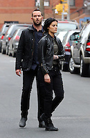 www.acepixs.com<br /> <br /> February 23 2017, New York City<br /> <br /> Actors Sullivan Stapleton (L) and Jaimie Alexander were on the set of the TV show 'Blindspot' on February 23 2017 in New York City<br /> <br /> By Line: Zelig Shaul/ACE Pictures<br /> <br /> <br /> ACE Pictures Inc<br /> Tel: 6467670430<br /> Email: info@acepixs.com<br /> www.acepixs.com