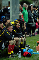 Dan Kirkpatrick (centre) watches from the reserves bench during the Mitre 10 Cup preseason rugby match between the Wellington Lions and Manawatu Turbos at Otaki Domain in Otaki, New Zealand on Sunday, 6 August 2017. Photo: Dave Lintott / lintottphoto.co.nz