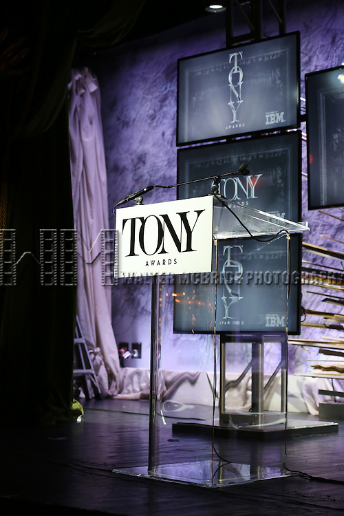 The American Theatre Wing's 70th Annual Tony Awards Nominations at Diamond Horseshoe at the Paramount Hotel on May 3, 2016 in New York City.