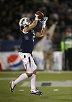 Nevada's Richy Turner (2) competes against Boise State in the first half of an NCAA college football game in Reno, Nev., on Saturday, Oct. 4, 2014. Boise State won 51-46. (AP Photo/Cathleen Allison)