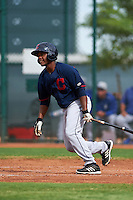 Cleveland Indians Jose Vicente (27) during an instructional league game against the Los Angeles Dodgers on October 15, 2015 at the Goodyear Ballpark Complex in Goodyear, Arizona.  (Mike Janes/Four Seam Images)