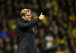 Liverpool's Jurgen Klopp gives it a thumbs up during the Premier League match at Vicarage Road Stadium, London. Picture date: May 1st, 2017. Pic credit should read: David Klein/Sportimage