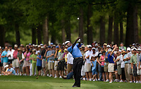 PGA golfer Vijay Singh hits from a fairway during the 2008 Wachovia Championships at Quail Hollow Country Club in Charlotte, NC.