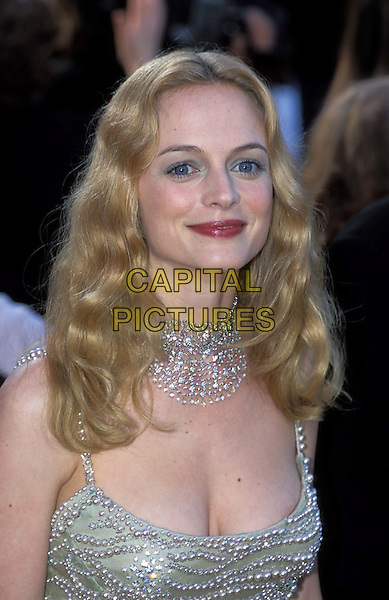 HEATHER GRAHAM.Ref: 9468.sales@capitalpictures.com.www.capitalpictures.com.©Capital Pictures.smiling, jewel-encrusted dress, beaded silver necklace, beaded silver choker, cleavage