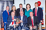 Pat Spillane launched the Fossa GAA 50th anniversary book in their clubhouse on Friday night front row l-r:Dermot Clifford Chairman, Pat Spillane, Dermot Back row: Shane Kelly, Marie Murphy, Merry Talbot, Teresa Kissane, Pat Sheehan,