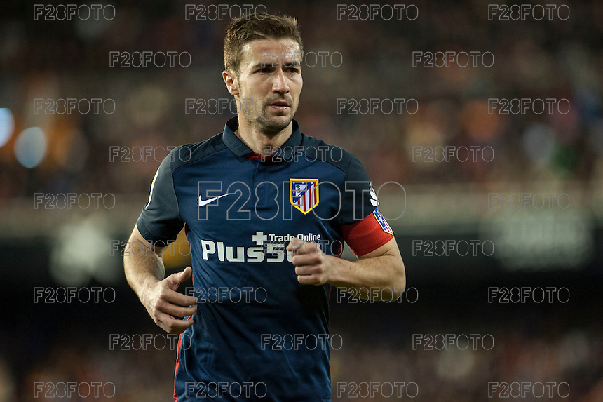 VALENCIA, SPAIN - MARCH 6: Gabi during BBVA League match between Valencia C.F. and Athletico de Madrid at Mestalla Stadium on March 6, 2015 in Valencia, Spain