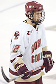Dan Bertram - The Boston College Eagles completed a shutout sweep of the University of Vermont Catamounts on Saturday, January 21, 2006 by defeating Vermont 3-0 at Conte Forum in Chestnut Hill, MA.