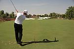 Dubai World Championship Golf. Earth Course,.Jumeirah Golf Estate, Dubai, U.A.E...Soren Hanson teeing off on the 4th during the first round of the Dubai World Golf championship..Photo: Fran Caffrey/www.golffile.ie...