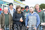 Engine Revs<br /> -----------------<br /> Getting up and close to the cars at the service last Sunday at the rally of the Lakes in Killarney were L-R Charlie O'Reilly, Kevin Randles, Denise O'Donovan,Niall Riordan, Jerry Lane with Tim O'Donovan.