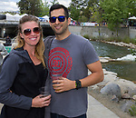 Emily and Luis during the Riverfest in downtown Reno, Nevada on Sunday, May 13, 2018.