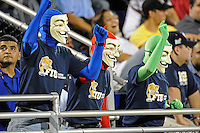 25 October 2011:  FIU fans cheer on their team in the second half as the FIU Golden Panthers defeated the Troy University Trojans, 23-20 in overtime, at FIU Stadium in Miami, Florida.