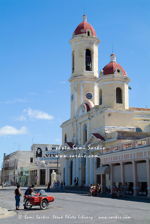 Cathedral of the Immaculate Conception on Parque Jose Marti, Cienfuegos, Cuba.