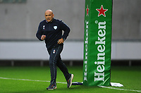 Racing 92 coach Laurent Travers during the pre match warm up<br /> <br /> Photographer Ian Cook/CameraSport<br /> <br /> European Rugby Champions Cup - Scarlets v Racing 92 - Saturday 13th October 2018 - Parc y Scarlets - Llanelli<br /> <br /> World Copyright &copy; 2018 CameraSport. All rights reserved. 43 Linden Ave. Countesthorpe. Leicester. England. LE8 5PG - Tel: +44 (0) 116 277 4147 - admin@camerasport.com - www.camerasport.com