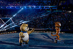 Performance during the Opening Ceremony of the 2014 Sochi Olympic Winter Games at Fisht Olympic Stadium on February 7, 2014 in Sochi, Russia. Photo by Victor Fraile / Power Sport Images