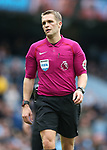 Referee Craig Pawson during the premier league match at the Etihad Stadium, Manchester. Picture date 22nd April 2018. Picture credit should read: Simon Bellis/Sportimage