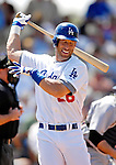 13 March 2007: Los Angeles Dodgers outfielder Luis Gonzalez in action against the Detroit Tigers during a spring training game at Holman Stadium in Vero Beach, Florida.<br /> <br /> Mandatory Photo Credit: Ed Wolfstein Photo