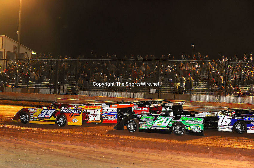 Jan 28, 2010; 9:10:58 PM; Waynesville, GA., USA; The Southern All Stars Racing Series running The Super Bowl of Racing VI at Golden Isles Speedway.  Mandatory Credit: (thesportswire.net)