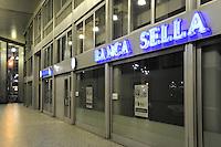 - Milan, bank Sella in Diaz square....- Milano, banca Sella in piazza Diaz