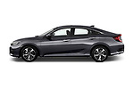 Car driver side profile view of a 2019 Honda Civic Elegance 4 Door Sedan