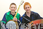 Jason Foley and Kevin O'Neill from Ballydonoghue at the Scor na nOg finals in Asdee on Saturday night.