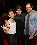 Keith White, Bobby Conte Thornton and Nick Cordero during the Actors' Equity Gypsy Robe Ceremony honoring Jonathan Brody for  'A Bronx Tale'  at The Longacre on December 1, 2016 in New York City.