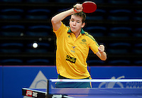 Connor Johnstone (AUS)<br /> 2013 ITTF PTT Oceania Regional<br /> Para Table Tennis Championships<br /> AIS Arena Canberra ACT AUS<br /> Wednesday November 13th 2013<br /> © Sport the library / Jeff Crow