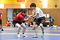 Japan Women's Judo and Wrestling national team joint training session