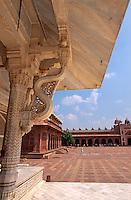 Mausoleum von Shaikh Shalim Chishti  in Fatehpur Sikri, Uttar Pradesh, Indien, Unesco-Weltkulturerbe