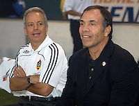 LA Galaxy assistant coach Dave Sarachan and head coach Bruce Arena. The Chicago Fire defeated the LA Galaxy 1-0 at Home Depot Center stadium in Carson, California on Thursday, August 21, 2008.