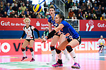 18.11.2018, Halle Berg Fidel, Muenster<br />Volleyball, Bundesliga Frauen, Normalrunde, USC MŸnster / Muenster vs. VfB Suhl Lotto ThŸringen / Thueringen<br /><br />Annahme Claudia Steger (#11 Suhl)<br /><br />  Foto &copy; nordphoto / Kurth