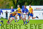 Kieran Doona Laune Rangers breaks away from Sean Kelliher Beaufort during the Mid Kerry clash in Killorglin on Sunday