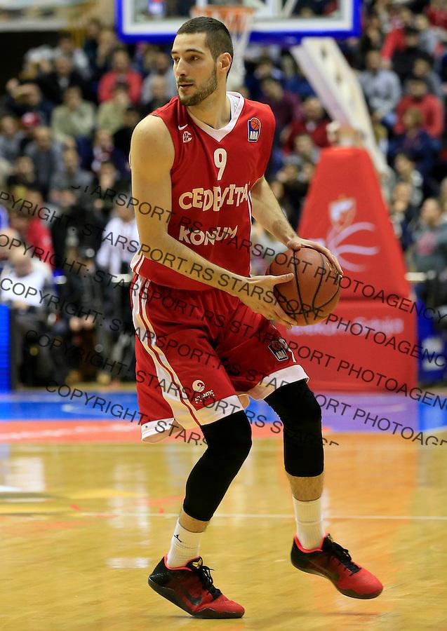 Kosarka ABA League season 2015-2016<br /> Crvena Zvezda v Cedevita<br /> Luka Babic<br /> Beograd, 04.01.2015.<br /> foto: Srdjan Stevanovic/Starsportphoto&copy;