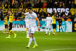 09.02.2019, Signal Iduna Park, Dortmund, GER, 1.FBL, Borussia Dortmund vs TSG 1899 Hoffenheim, DFL REGULATIONS PROHIBIT ANY USE OF PHOTOGRAPHS AS IMAGE SEQUENCES AND/OR QUASI-VIDEO<br /> <br /> im Bild | picture shows:<br /> Benjamin Huebner (Hoffenheim #21) dankt dem Schiedsrichter, der nach Überprüfung der Torszene darauf entscheidet, dass der Treffer nicht zählt,  <br /> <br /> Foto © nordphoto / Rauch
