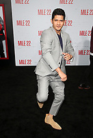 "WESTWOOD, CA - AUGUST 9: Iko Uwais, at Premiere Of STX Films' ""Mile 22"" at The Regency Village Theatre in Westwood, California on August 9, 2018. Credit: Faye Sadou/MediaPunch"