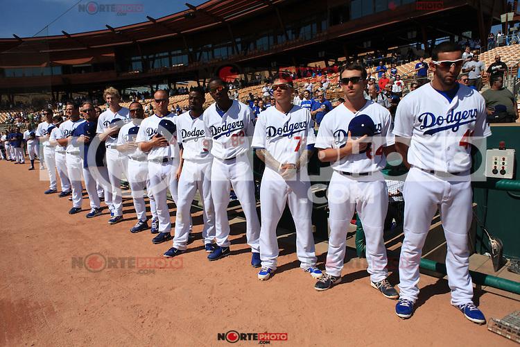 Mexico vs Dodgers de LA  previo al Clasico Mundial de beisbol 2013  , Camelback Ranch en Glendale Arizona.06 marzo 2013 .photo© Baldemar de los Llanos
