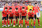 Players of South Korea line up and pose for photos prior to the AFC Asian Cup UAE 2019 Group C match between South Korea (KOR) and China (CHN)  at Al Nahyan Stadium on 16 January 2019 in Abu Dhabi, United Arab Emirates. Photo by Marcio Rodrigo Machado / Power Sport Images