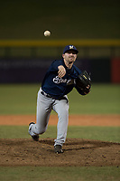 AZL Brewers relief pitcher Tate Budnick (30) delivers a pitch during an Arizona League game against the AZL Cubs 1 at Sloan Park on June 29, 2018 in Mesa, Arizona. The AZL Cubs 1 defeated the AZL Brewers 7-1. (Zachary Lucy/Four Seam Images)