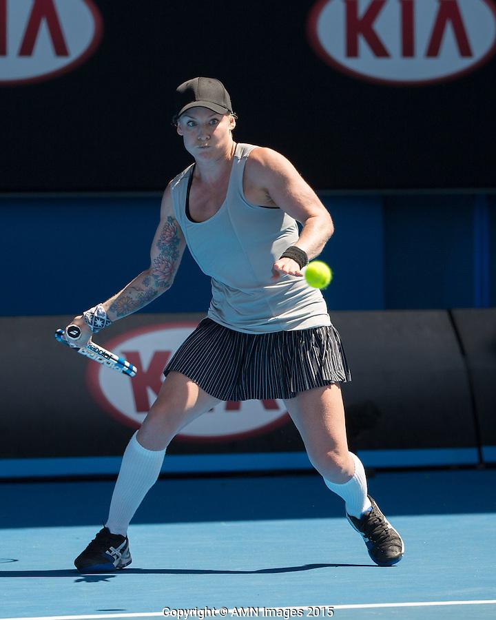 Bethanie Mattek-Sands (USA)<br /> <br /> Tennis - Australian Open 2015 - Grand Slam -  Melbourne Park - Melbourne - Victoria - Australia  - 23 January 2015. <br /> &copy; AMN IMAGES