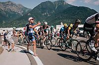 run along fan up the final climb of the day (in Spain!): the Col du Portillon (Cat1/1292m)<br /> <br /> Stage 16: Carcassonne &gt; Bagn&egrave;res-de-Luchon (218km)<br /> <br /> 105th Tour de France 2018<br /> &copy;kramon