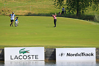 Austin Connelly (CAN) on the 1st fairway during Round 3 of the HNA Open De France at Le Golf National in Saint-Quentin-En-Yvelines, Paris, France on Saturday 30th June 2018.<br /> Picture:  Thos Caffrey | Golffile