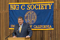 OAKLAND, CA - November 4, 2016: 2016 Inductee Jack Clark speaks at the Big C Society 31st Annual Hall of Fame Banquet at the Greek Orthodox Cathedral.