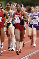 31 March 2006: Ashley Freeman during Stanford's Track & Field Invitational at Cobb Track & Angell Field in Stanford, CA.