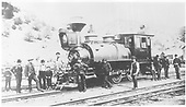 3/4 fireman's-side view of D&amp;RG 0-6-0T switcher #106 posing with her crew and others.<br /> D&amp;RG